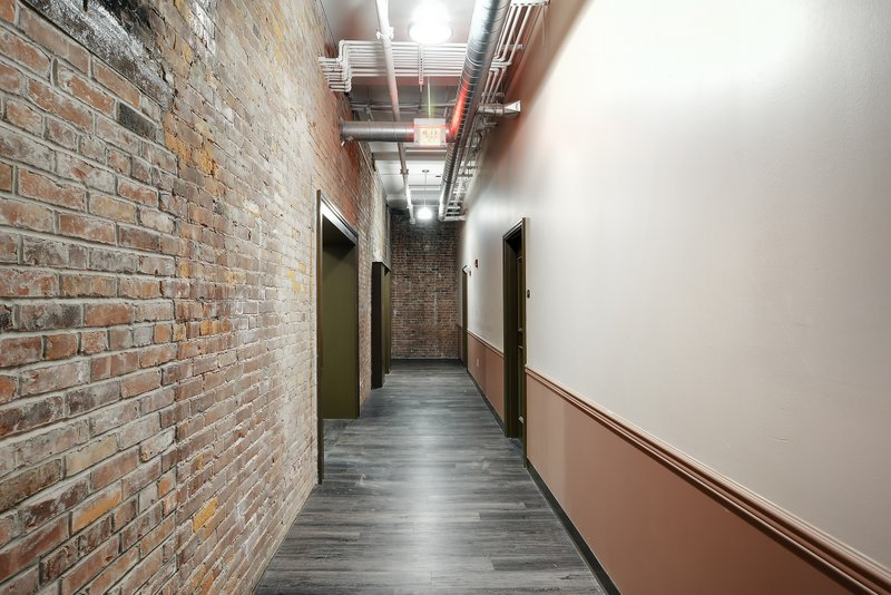 Hallway with Brick